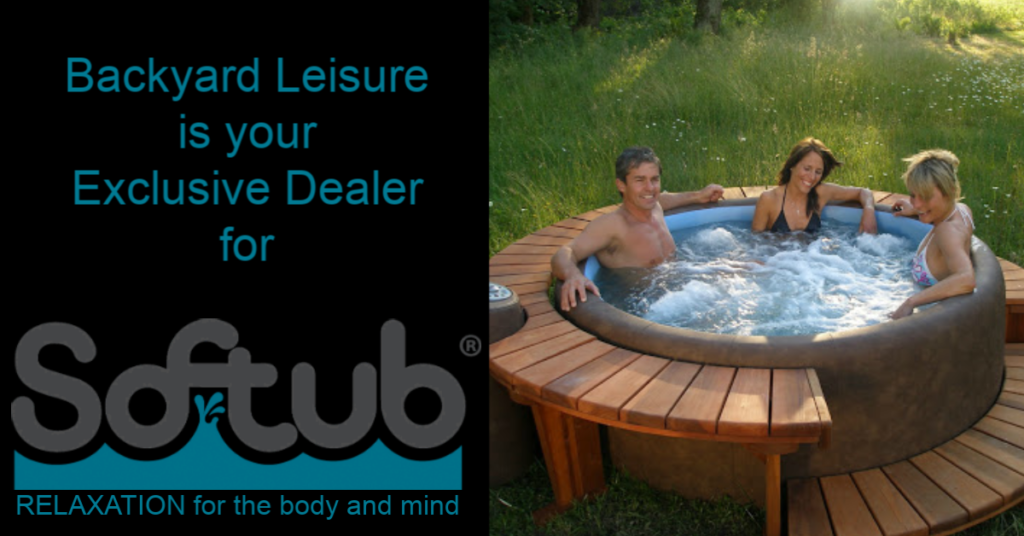 Trio En Jacuzzi.Lethbridge Softub Backyard Leisure