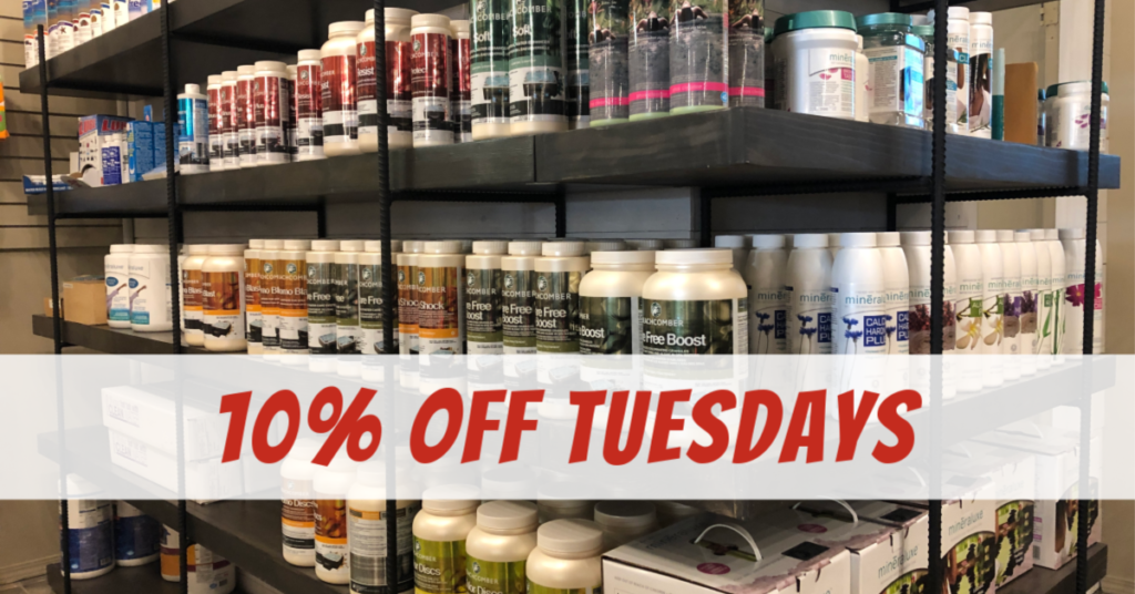 Receive 10% off Tuesdays on water care products